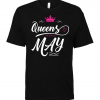 birthday queen t shirt black