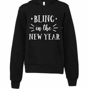 black bling in new year hoodie