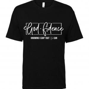 black godfidence t shirt