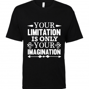 black limitation imagination t shirt