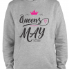 grey birthday queen hoodie