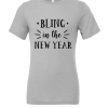 grey bling in new year t shirt