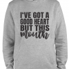 grey but this mouth hoodie