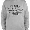 grey im not a control freak hoodie
