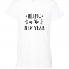 white bling in new year t shirt