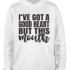 white but this mouth hoodie