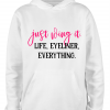 white just wing it hoodie