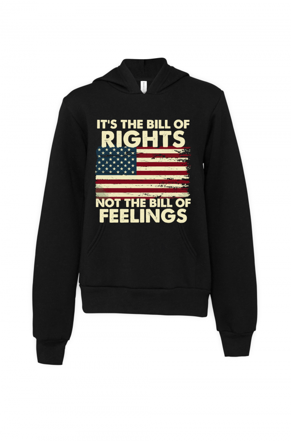 black bill of rights not bill of feelings hoodie
