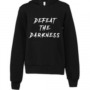black defeat the darkness hoodie