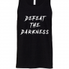 black defeat the darkness racerback tank tops