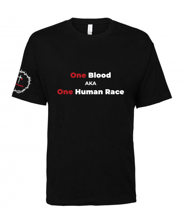 black one blood one race unity t shirt