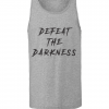 grey defeat the darkness racerback tank tops